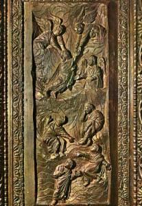 Вознесение Господне. Рельеф на двери базилики Санта Сабина, V век