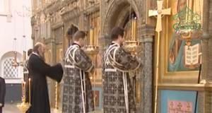 Патриаршее богослужение в Зачатьевском монастыре