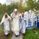 Митрополит Даниил и архиепископ Феогност освятили храм на подворье Соловецкого монастыря под Архангельском
