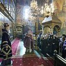 Архиепископ Феогност в день своего тезоименитства возглавил праздничное богослужение в Успенском соборе Московского Кремля